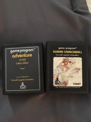 Atari ORIGINAL Adventure game and Human Cannon Ball for Sale in Tampa, FL