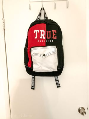 True Religion Unisex Backpack -Split Color -Black, Red & White- NWT- Retail $149 for Sale in Los Angeles, CA