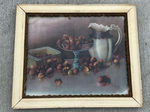 VINTAGE 1920's le Roy still life framed print Victorian era for Sale in Riverside, CA