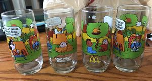 4 Collectible McDonalds peanuts glasses for Sale in Everett, WA