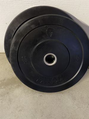 Bumper plates olympic plates weights for Sale in Hayward, CA