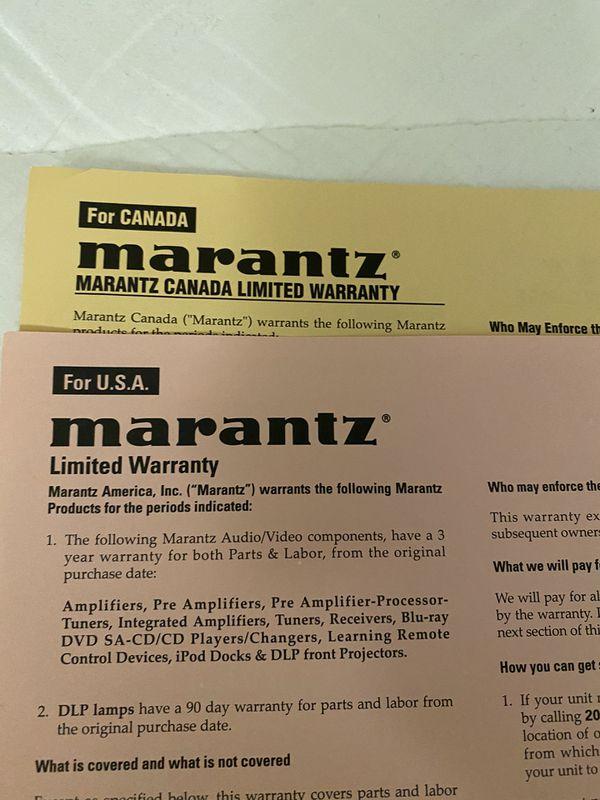 Marantz Receiver home theatre 2018 like new