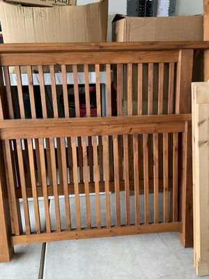 Handmade one of a kind twin size bed frame, easy assembly, no hardware needed. No mattress, for Sale in Wendell, NC