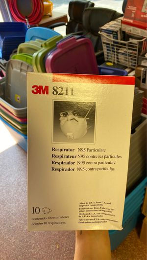 N95 Particulate Respirator 3M 8211 10 pack Have 38 boxes for Sale in Algonquin, IL