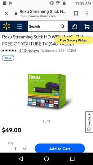 Roku streaming stick for Sale in Hudson, MA