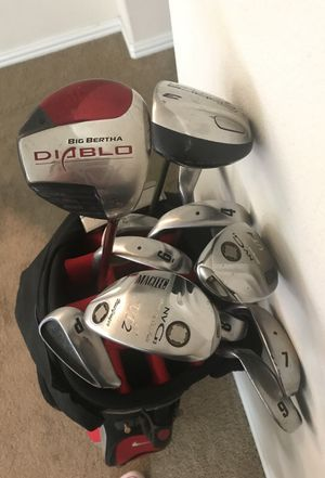 Nike golf bags with awesome clubs for Sale in Houston, TX