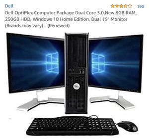 Dell computer with dual screens for Sale in Washington, DC