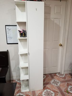 Tall white shelf, pantry or bathroom storage. for Sale in Anaheim, CA