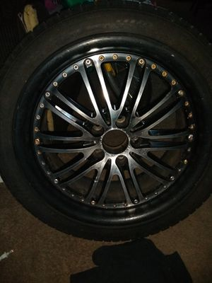 18 inch Privat Rims and Tires with good tread. 245/40R 18 for Sale in Portland, OR
