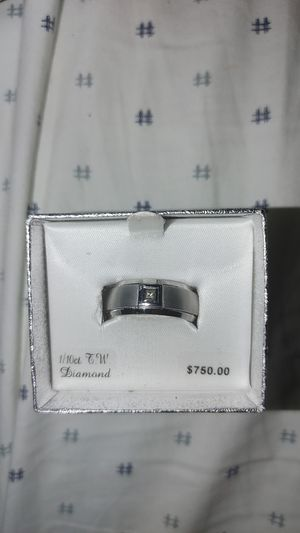 Tungsten mens size 10 diamond ring for Sale in Phoenix, AZ