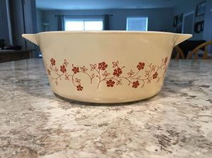 Vintage Pyrex Casserole Dish Trailing Flowers Pattern for Sale in Elgin, IL