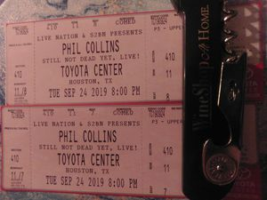 Pair of Phil Collins Tix 9/24 for Sale in Humble, TX