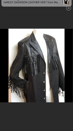 VTG DIAMOND DENIM & LEATHER DUSTER FRINGE COAT Sz Small for Sale in Clarksville,  MD