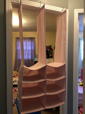 Pink closet organizer for Sale in Columbia, TN