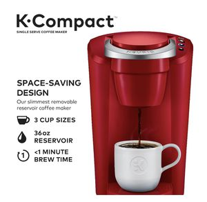 Keurig K-Compact Single-Serve K-Cup Pod Coffee Maker, Imperial Red for Sale in Tampa, FL