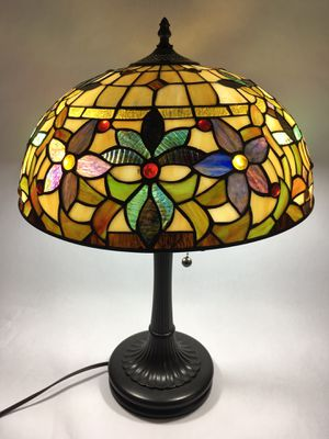 Gorgeous Quoizel Collections Stained Glass Lamp (Shade with Matching Base) for Sale in Hamilton Township, NJ
