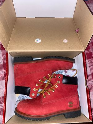 limited edition, Size 7 all red Timberlands for Sale in Coral Gables, FL