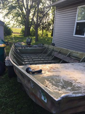 Hallmark riverboat 16 x 4 With trailer and titles for both for Sale in Granite City, IL