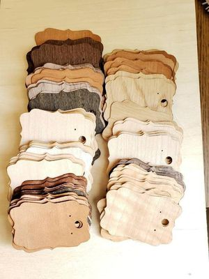 Wholesale lot of 100 wood veneer earring cards for Sale in Quincy, IL