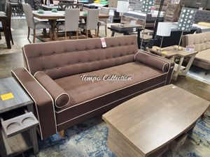 SPL Sofa Bed / Futon with Pillows, Brown, SKU# MLT7567BRWTC for Sale in Santa Fe Springs, CA