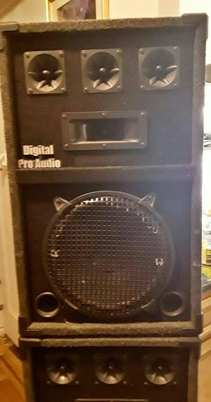 "DIGITAL PRO AUDIO - Two (2) DPA Speakers 17"" PA DJ (Brooklyn) for Sale in Brooklyn, NY"