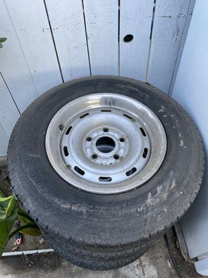 Selling 4 original 2000 Dodge Ram rims and tires $300 for Sale in Los Angeles, CA