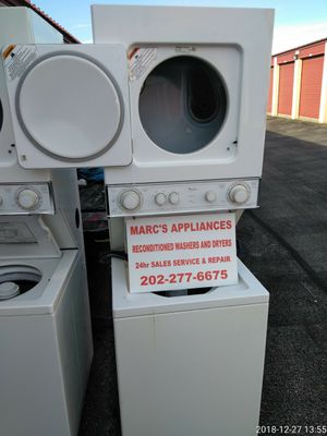 Whirlpool electric or gas stacked washer and dryer I have 24 inch or 27inch for Sale in Fort Washington, MD
