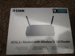 D-Link ADSL2 Modem with Wirelessireless N 300 Router for Sale in Colorado Springs, CO