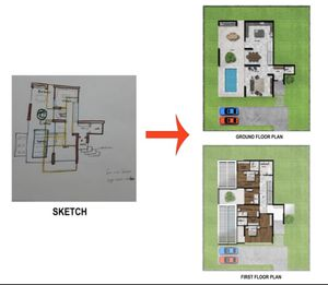 I make 2D floor plan in autocad and photoshop! for Sale in North Bay Village, FL