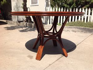 Boho Vintage Rattan Bamboo Wicker Dining Kitchen Table for Sale in San Diego, CA