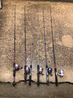 Lot of fishing rods and reels for Sale in Houston, TX