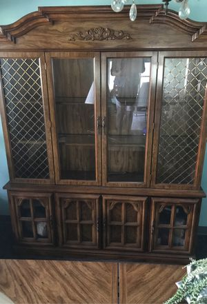 China cabinet and hutch w smaller Accent China cabinet for Sale in Auburndale, FL