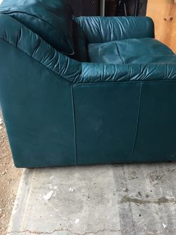 FREE!! Badass Leather Couch And Chair for Sale in Easton,  WA