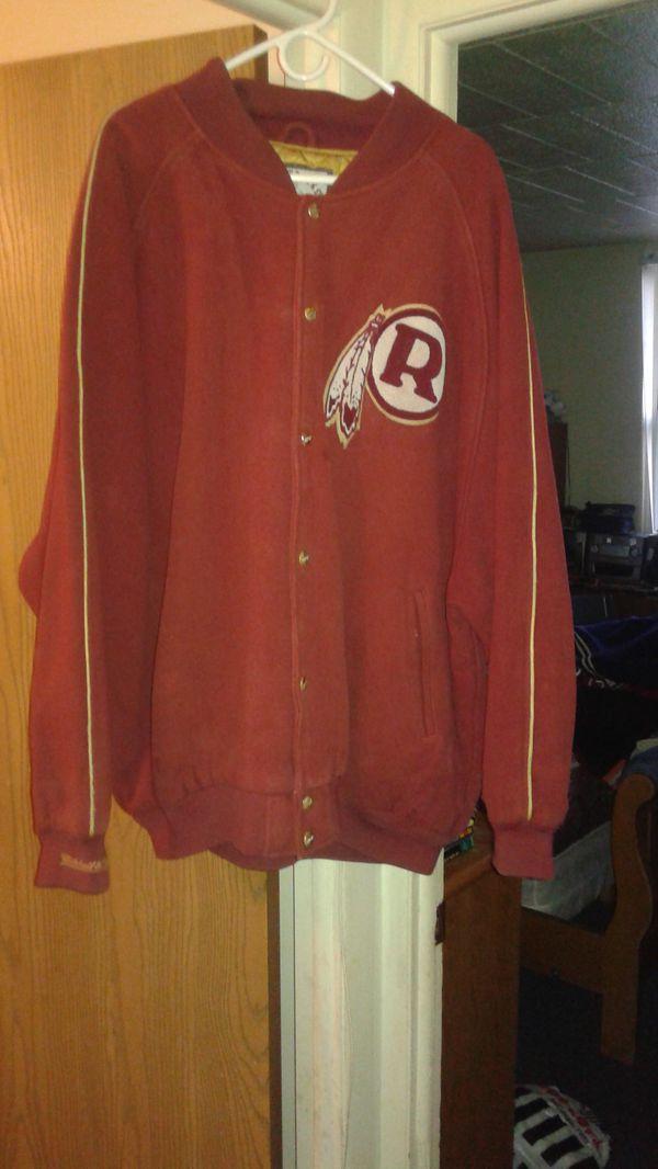 Mitchell&ness old school redskins wool NFL jacket