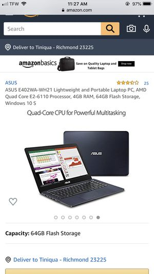 Asus laptop for Sale in Richmond, VA