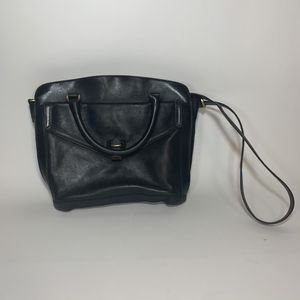 Madewell The Sloane Satchel Leather Messenger Shoulder Bag Purse Black for Sale in Los Angeles, CA