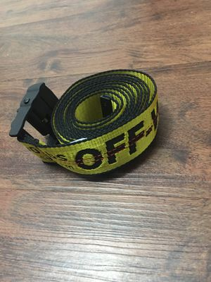 Off White Yellow Industrial Belt One Size for Sale in Los Angeles, CA