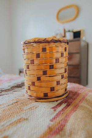 Small Cylindrical Wicker Basket for Sale in Nashville, TN