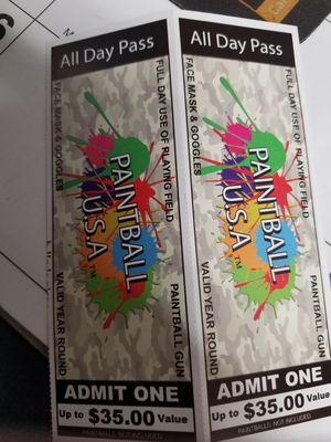 PAINTBALL PASSES for Sale in Swatara, PA