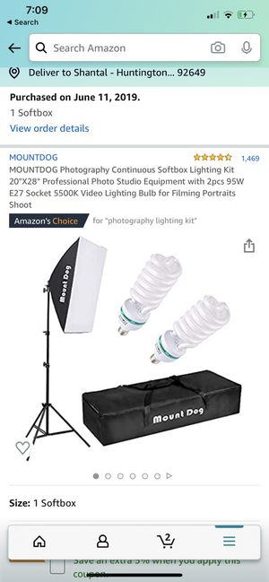 Mountdog photography continuous softbox lighting kit for filming photography portraits for Sale in HUNTINGTN BCH, CA