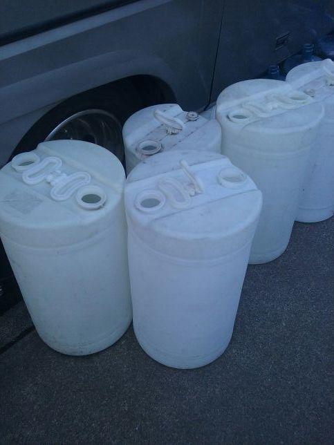 LARGE 20 GALLON CLEAN WATER BARRELS