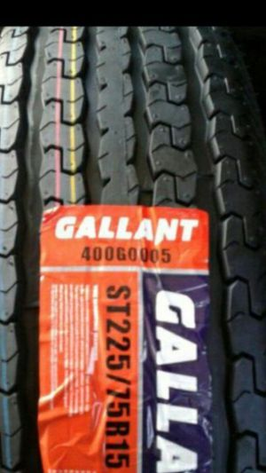 4] NEW TRAILER TIRES 10PLY ST225/75R15 pick up ONLY for Sale in Los Angeles, CA