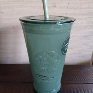 Starbucks Green Recycled Glass Cup 16oz BRAND NEW for Sale in Rockville, MD