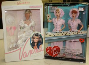 I Love Lucy boxed chocolate factory scene dolls and Vanna White Wedding for Sale in Garland, TX