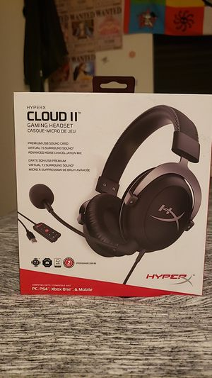 Hyper x Cloud 2 Gaming Headset for Sale in Willow Grove, PA