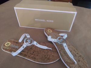 New white Michael kors sandals size 11 for Sale in Charlotte, NC