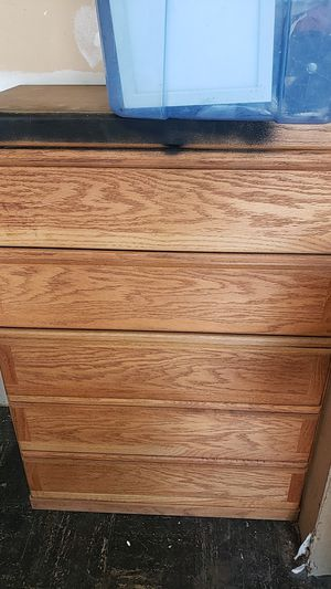 5 drawer dresser used 43inch length by 30inch wide for Sale in Riverside, CA