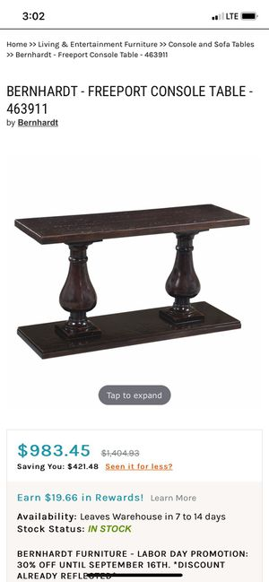 Bernhardt living room coffee table, side table tv stand for Sale in Fort Lauderdale, FL