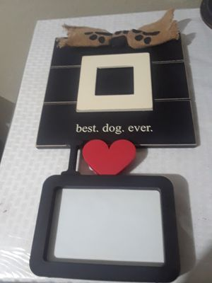 Best Dog Ever Picture Frames like new. $25.00 cash only for Sale in Dallas, TX