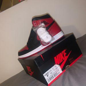 Jordan 1s banned size 8.5 for Sale in Duarte, CA